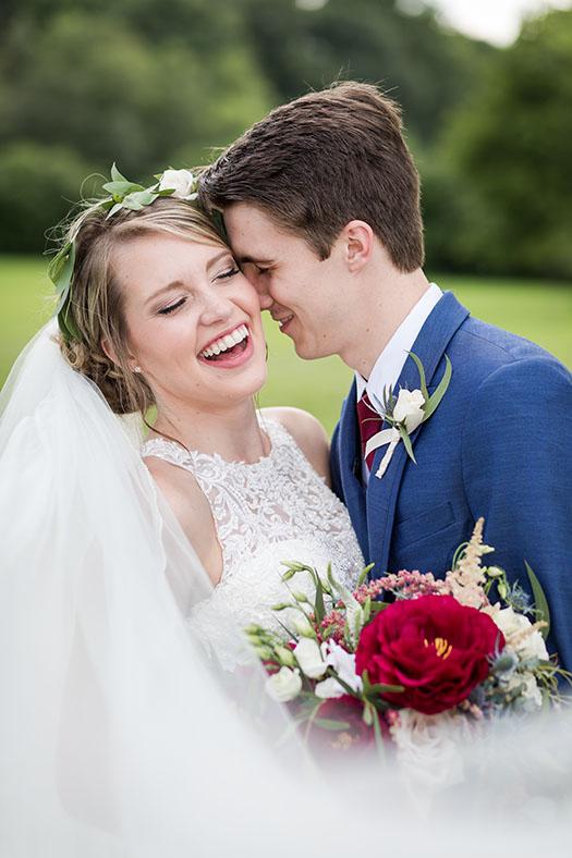 Bride with a big smile