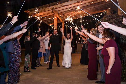 wedding reception at the Juliette Chapel