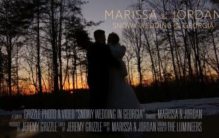 Snowing Wedding in Georgia