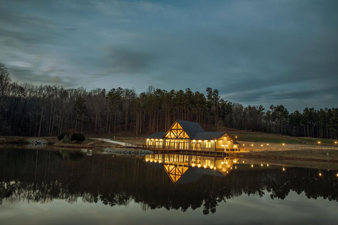 Swan Lake Venue at night