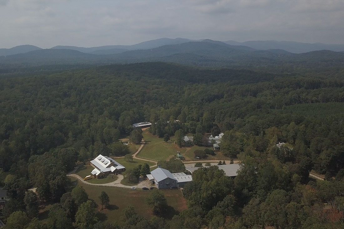 An aerial view of The Willows Farm