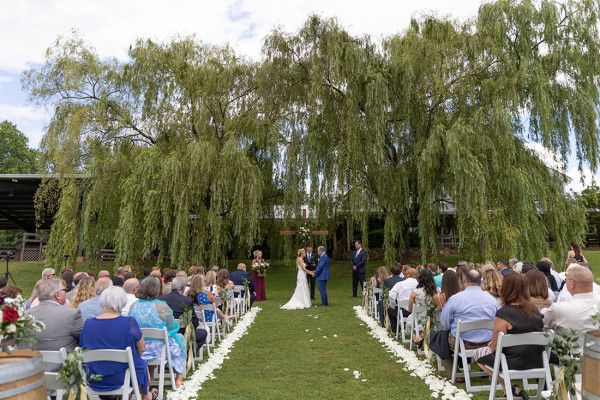 Under the willows ceremony at the Willows Farm