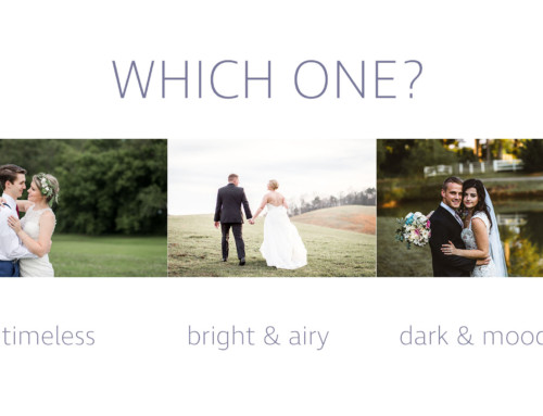 Our Wedding Photography Editing Style
